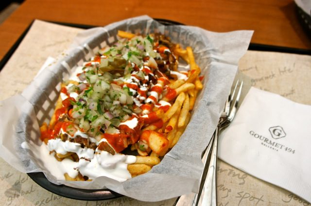 Vatos' kimchi carnitas fries