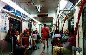 Some Toronto diversity on it's cute, little subway