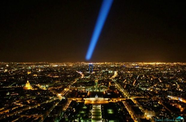 The nighttime lights of Paris