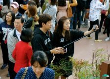 Couple look AND selfie stick