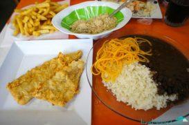 A meal inside the favela