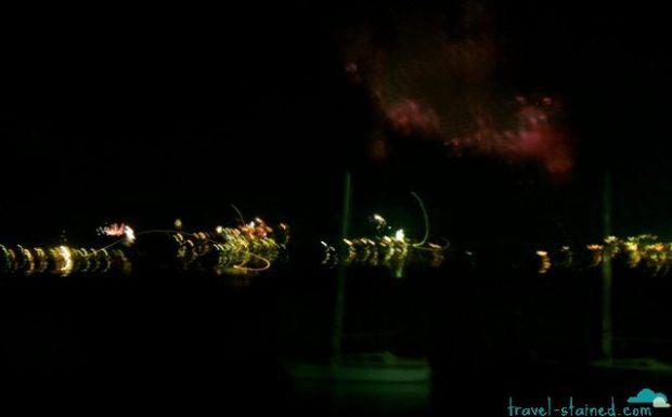 Albania's midnight fireworks from across Lake Ohrid