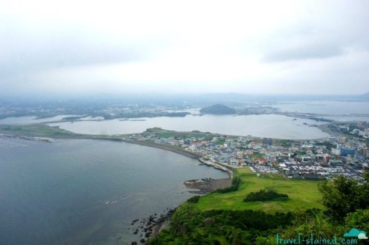 The view from the top of Seongsan Ilchubong
