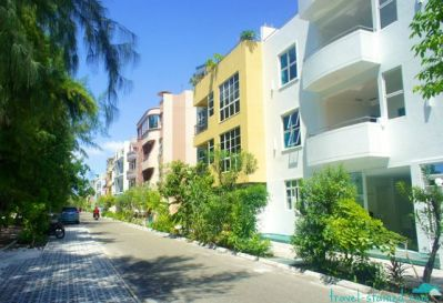 The buildings of Hulhumale - feels like Miami!