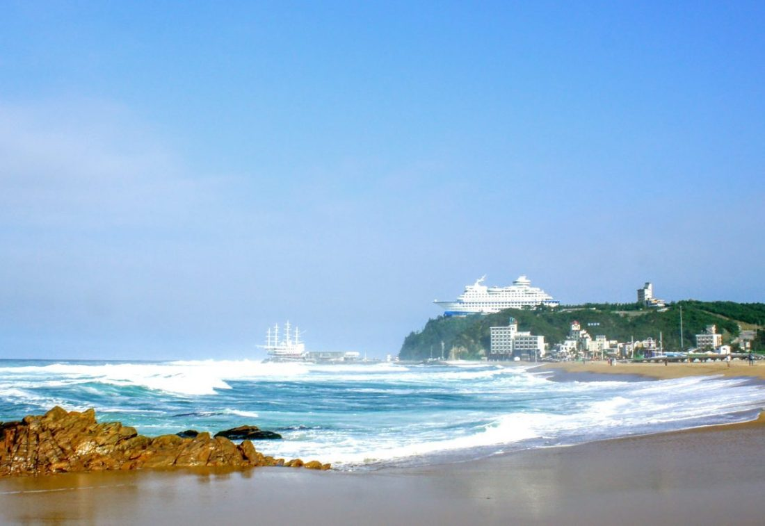 sun cruise resort above jeongdongjin beach