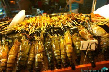 Seafood skewers