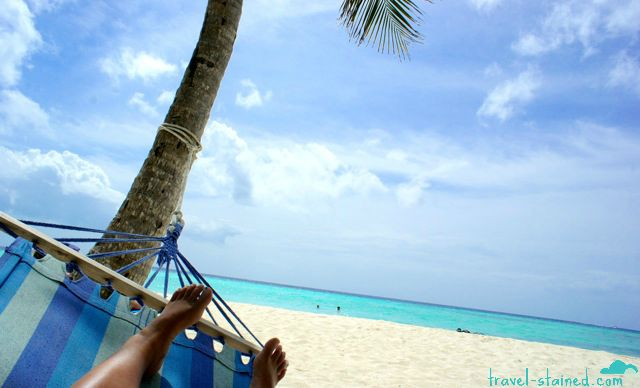 Gorgeous ocean, white sand, palm trees, hammock.. Check!