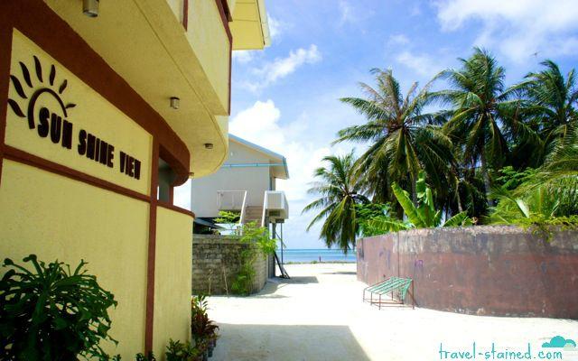 Newly opened Sunshine View Guesthouse in Maafushi