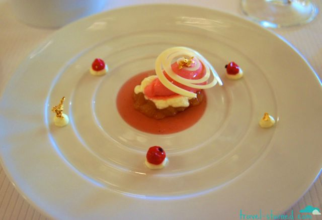 Pretty desserts at Pierre Gagnaire