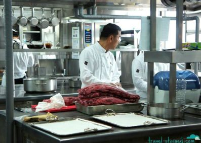 The super clean kitchen and some of that delicious meat