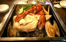 Amazing steamed shellfish and lobster, don't ask me about the chicken