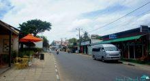 Deserted Negombo beach town