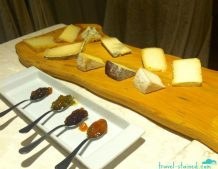 Cheese board with veggie jams in Valle D'Imagna