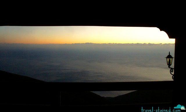 An eerie sunset