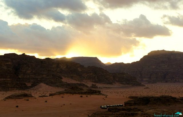 A Bedouin camp miles from anything else