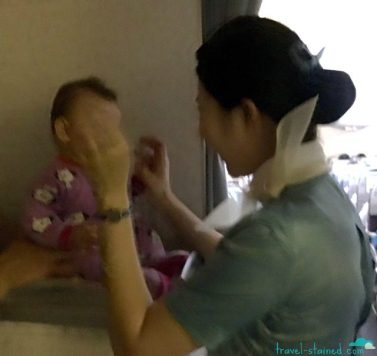 Playing with a flight attendant