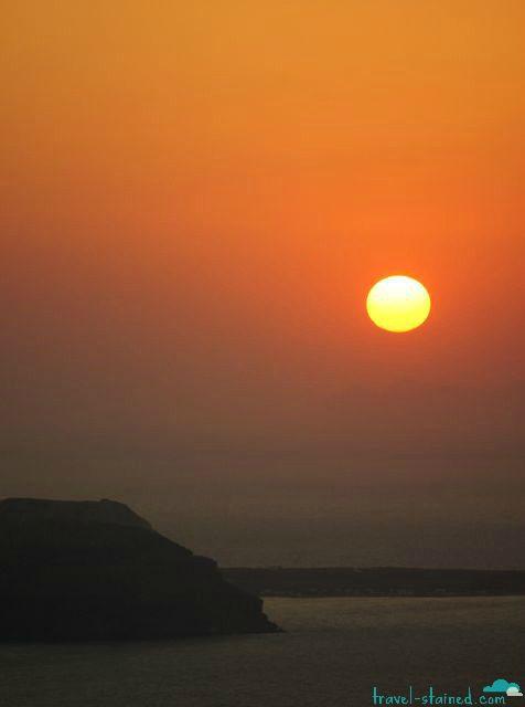 The famous Santorini sunset