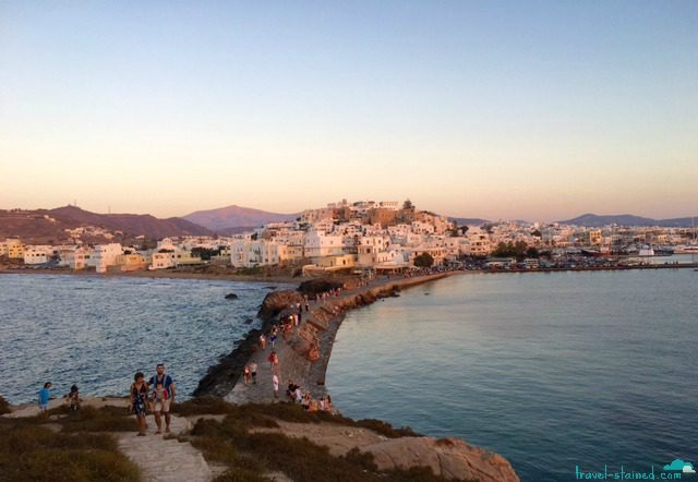 Naxos, Greece at sunset