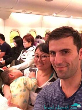 Happy and relaxed on Korean Air