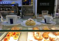 Cappuccino and caffe + sweets of course