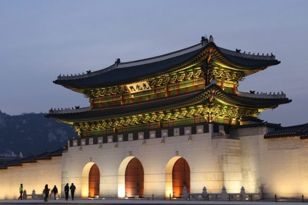 Seoul at night - Korean palaces