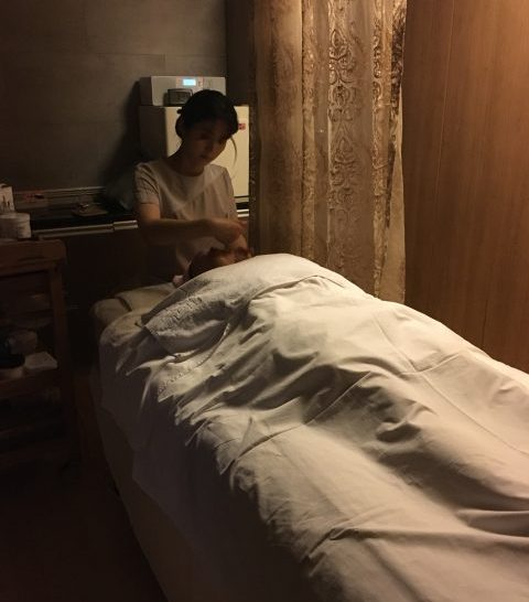 Nothing to do but relax during a Korean facial
