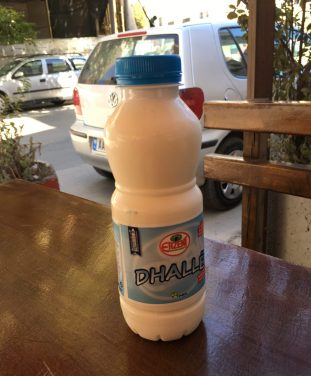 a bottle of dhalle in albania