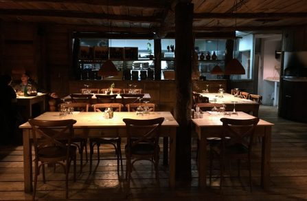 interior of mullixhiu, one of tirana's best restaurants