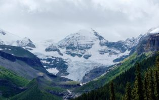 glacier views on the maligne lake tour