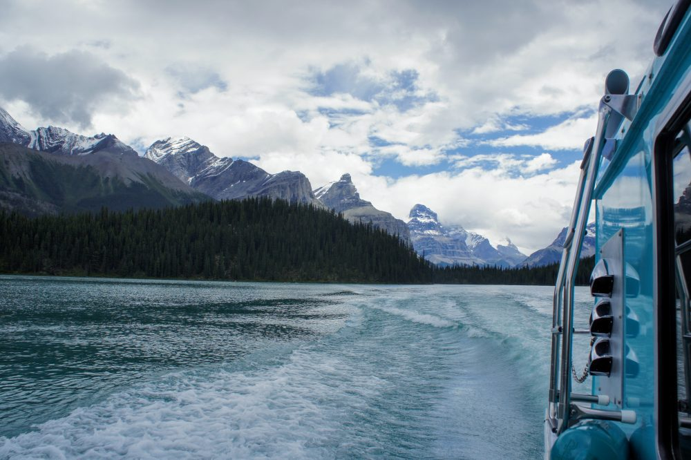 views from the maligne lake cruise
