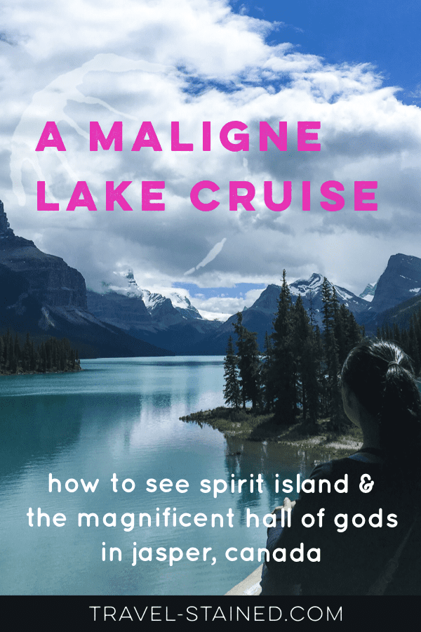 A Maligne Lake Cruise: how to see Spirit Island & the Hall of Gods in Jasper, Canada. #malignelakecruise #spiritislandjasper #spiritisland #canadianrockies #albertaparks #malignelaketour #malignelake #jaspernationalpark