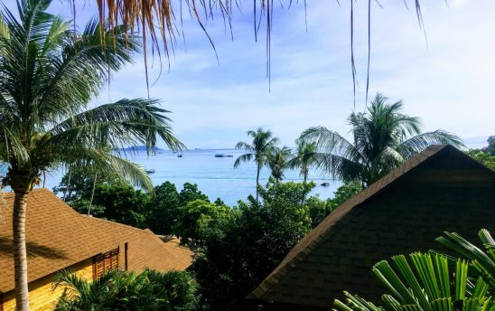 view of sea from ten moons on lipe thailand