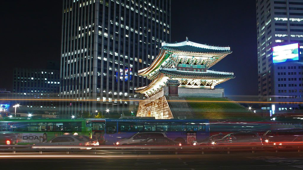 namdaemun at night korea