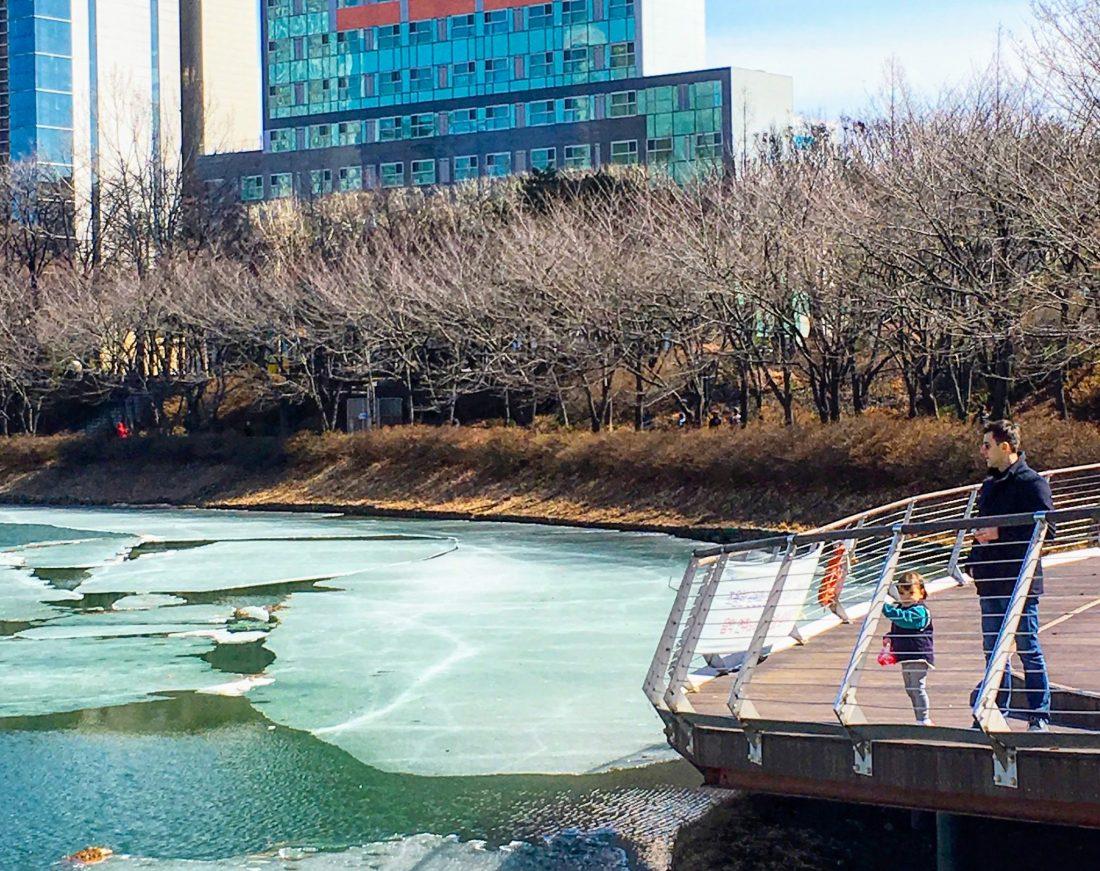 seokchon lake in march