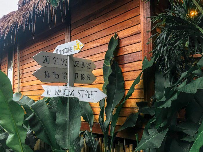 signs at ten moons lipe resort thailand