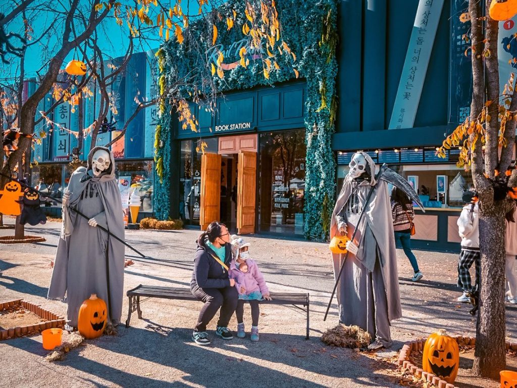 halloween in korea at ganchon rail park
