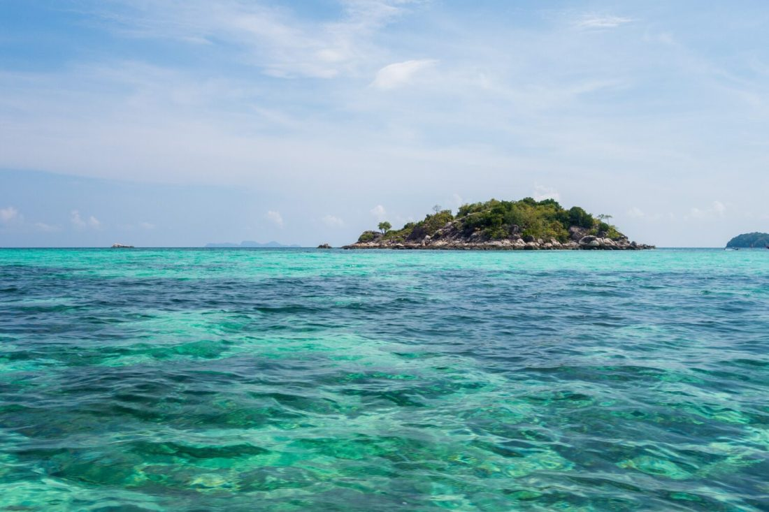 view from sunrise beach in koh lipe thailand