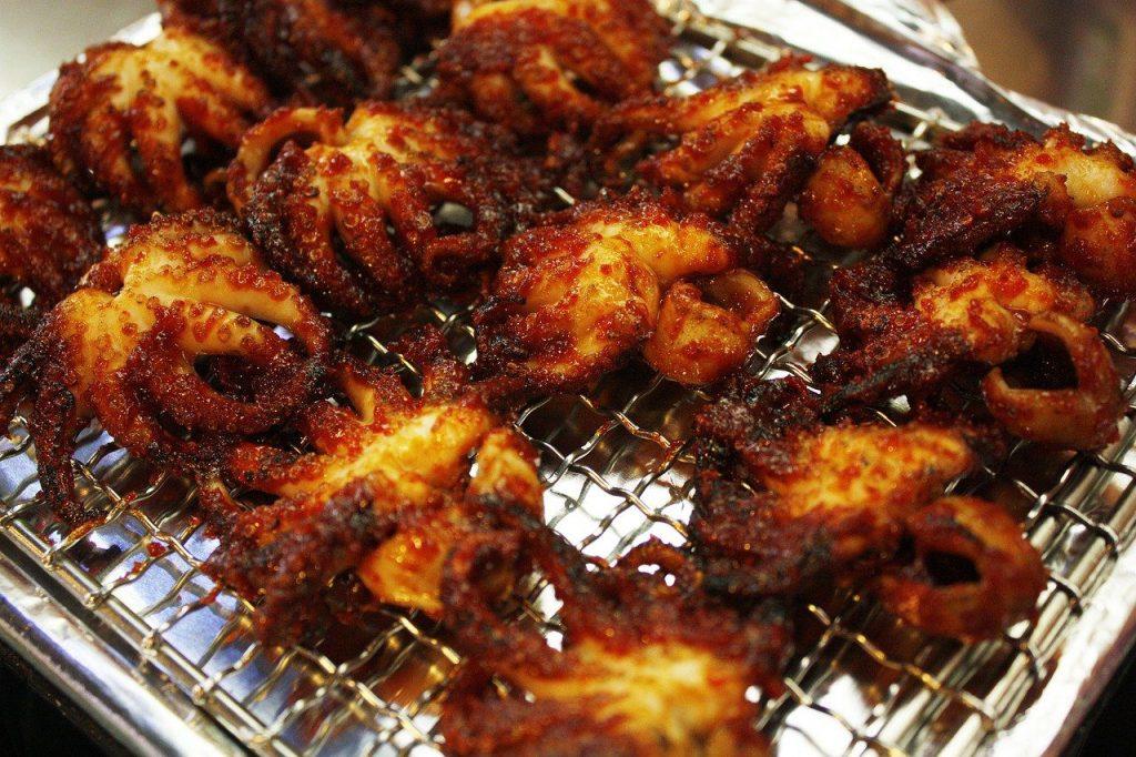 jjukkumi on the grill