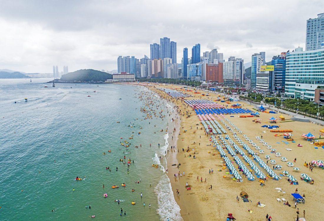 beaches in korea | haeundae beach busan