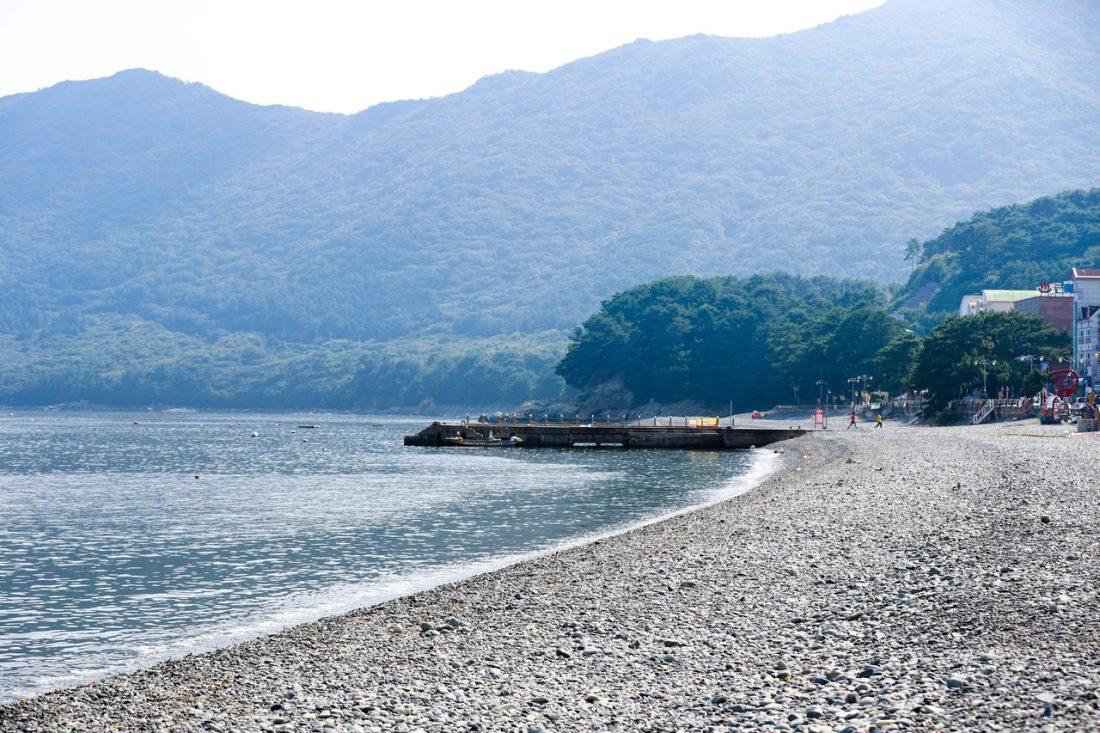beaches in korea | hakdong beach on geoje island