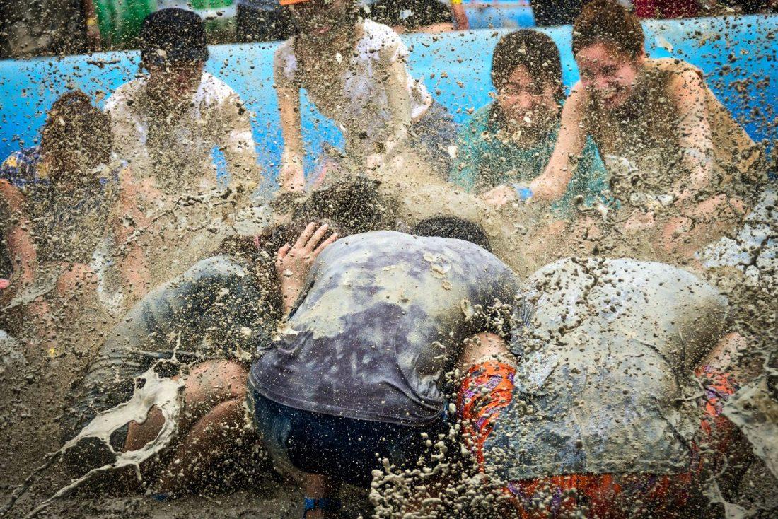 boryeong mud festival at daecheon beach