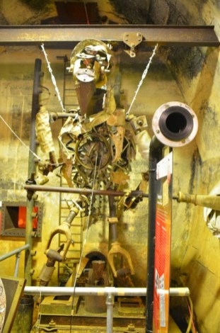 Sculpture made from WW2 relics, found in the Oil tunnels under Darwin