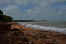 nice beach, too many croc's for a swim though...