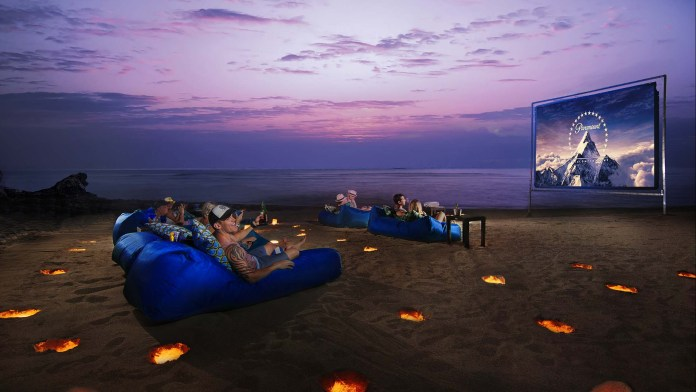 Karma Kandara's beach movie night