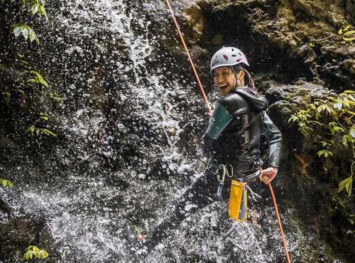 Canyoning is an excellent activity for those keen to experience the most adventurous things to do in Bali. Image: www.adventureandspirit.com