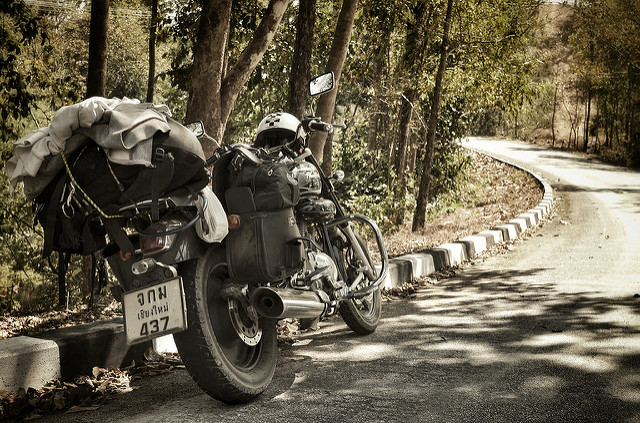motorcycling in thailand