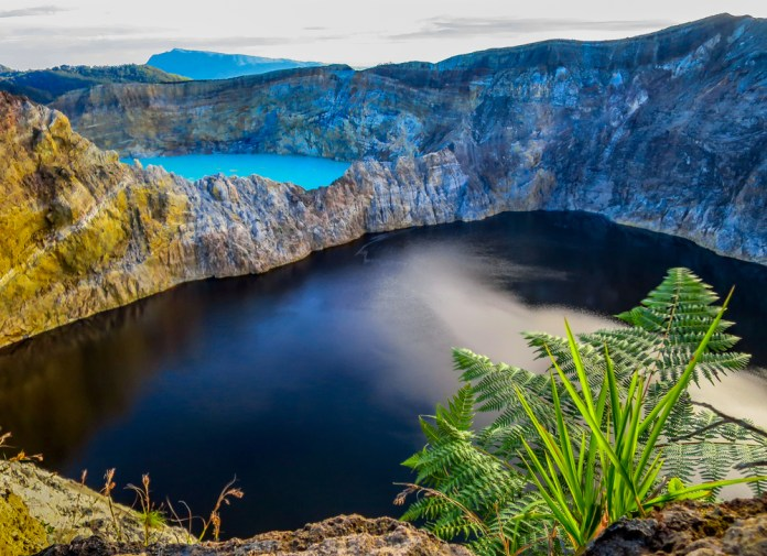 Witness the remarkable changing colours of Mount Kelimutu