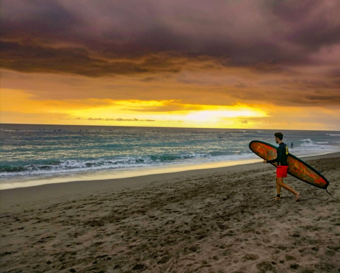 Surfing is a great option for rainy days