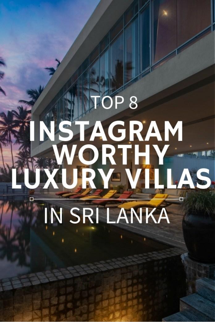top instagram-worthy luxury villas in Sri Lanka
