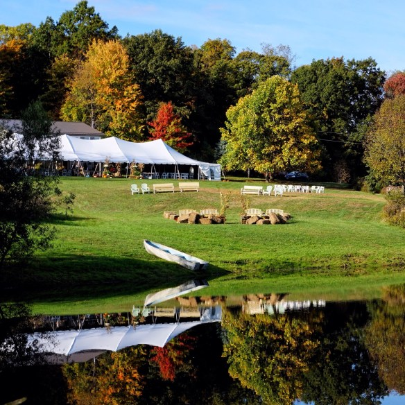 Pennsylvania Fall Lakeside Wedding Tent